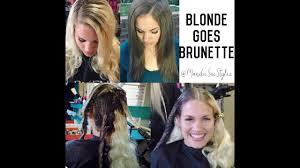 Blonde Goes Brunette How To Fill Redken Colorgels Olaplex Treatment