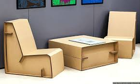 how to make cardboard furniture. Cardboard Table And Chairs Furniture Green Design Innovation Source A Made In How To Make