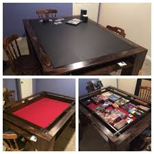 Wooden Game Table Plans Custom Gaming Table Game rooms Gaming and Game tables 36
