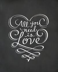 All You Need Is Love Print Chalkboard Art All You by LilyandVal | Board |  Pinterest | Chalkboards, Printing and Typography