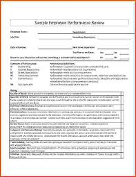 Sample Employee Performance Appraisal Sample Performance Appraisal Under Fontanacountryinn Com