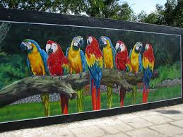 Painted Fences wall murals wall murals in chennal wall murals along anna salai 2318 by xevi.us