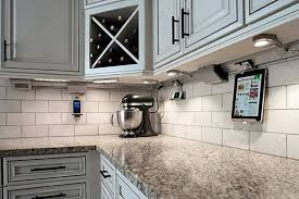under cabinet plug in lighting. Kitchen With Subway Tile Backsplash And Plug In Under Cabinet Lighting : Suggestions E