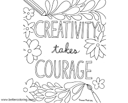 Growth Mindset Coloring Pages Creativity Takes Courage Free