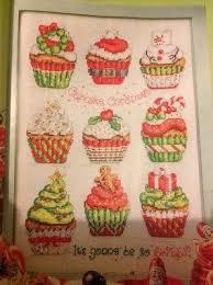 X3 Festive Cupcake Sampler Tree Present Wreath Christmas