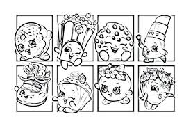 Free Printable Shopkins Shoppies Coloring Pages Christmas Page Board