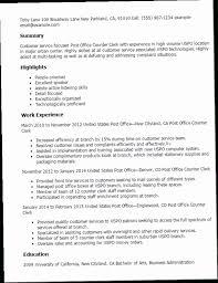 Counter Clerk Sample Resume Impressive Office Clerk Resume Sample