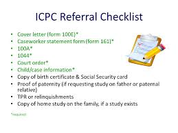 icpc form 100a interstate compact on the placement of children icpc ppt download