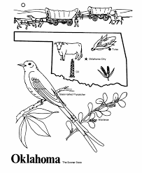 Oklahoma State Outline Coloring Page Free Worksheets Oklahoma