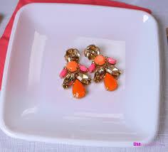 stella dot pop geo chandeliers earrings