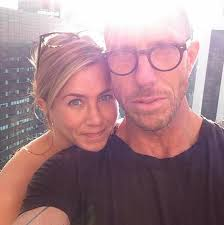 jennifer aniston takes a photo with longtime stylist chris mcmillan best friends