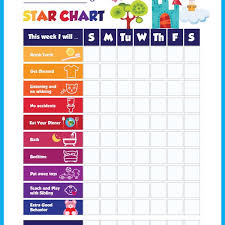 Printable Kids Star Behavior Chart Delta Children