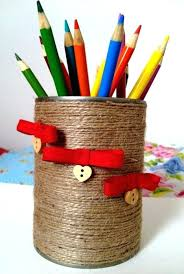 cool pen holders tin can pen holder also recycle creative materials pen holders ikea