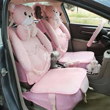 55 princess style girly design cute bears with laces universal fit car seat covers
