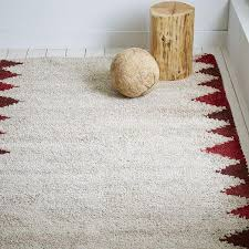 white wool shag rug. Steven Alan Red Triangle Edge Wool Shag Rug Inside Prepare 18 White O