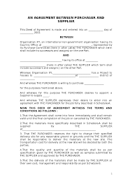 You can find free supply contract template here. Doc Log 2 3 Procurement Sample Purchase Contract Sample James Duncan Academia Edu