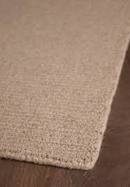 natural wool loom hooked rug solid taupe 4