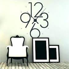 wall clock decals decal together with best kit giant vinyl clock wall decal grandfather sticker singapore