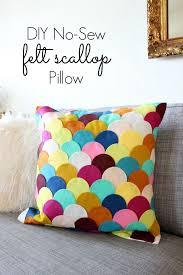 easy pillow designs. diy felt scalloped pillow easy designs s