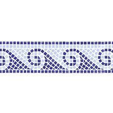 designer stencils mosiac waves wall stencil