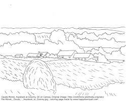 Small Picture Claude Monet Haystacks Famous Paintings Coloring Pages Art