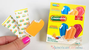 diy american girl doll creamsicle popsicles