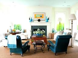 blue accent chairs for living room in turquoise leather