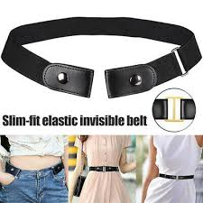 <b>Buckle Free Stretchable Elastic</b> Waist Belt Invisible Belt Waist for ...