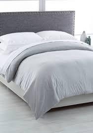 calvin klein modern cotton full queen duvet cover gray uni bed bath bedding
