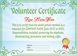 Volunteer Certificate Volunteer Certificate Template Free To Customize Download Print