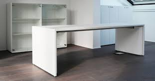 Excellent White Office Desks Designer Office Desks Modern Office Desks With  Regard To Long White Desk Modern