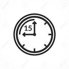 Timer Fifteen Minutes Time Countdown Icon Clock And Time Vector Icon Timer Symbol
