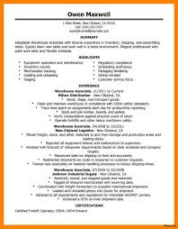 Warehouse Resume Photos Of Template General Warehouse Worker Resume Samples For 58