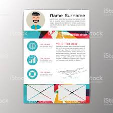 Modern Brochure Business Flyer Design Resume Template Abstract
