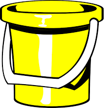 Bucket, Pail, Yellow, Toy, Playground, Child