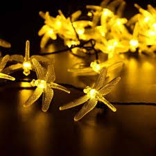 furniture solar powered outdoor string lights dragonfly leds warm white starry lighting target