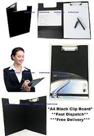 clipboard office paper holder clip. Image Is Loading Black-Folding-Clipboard-A4-Size-Clip-Board-Paper- Clipboard Office Paper Holder Clip EBay