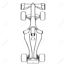 Top view of a racing car outline vector illustration royalty free car front diagram simple car drawing top view top view of a racing car outline vector