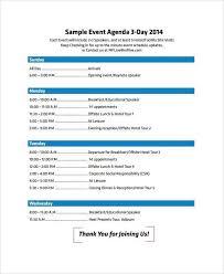 Sample Of Agenda Top 5 Best Event Agenda Templates