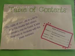 Table Of Contents Chart Table Of Contents Anchor Chart Teaching Tables Teachers