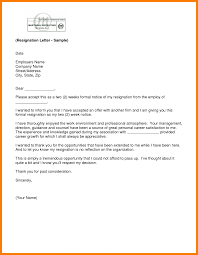 Resignation Letter Template Word Resignation Letter Template Word Sample Pdf Email Format With Notice 13