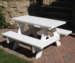 image of kids wood picnic tables