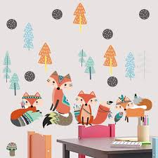 indian wind fox wall sticker for