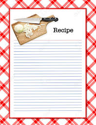 Recipe Page Layout A Red White Recipe Layout Matching Background Menu Page Stock