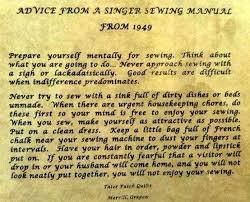 1949 Singer Sewing Machine Manual