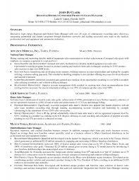 manager resume objective resume sample database