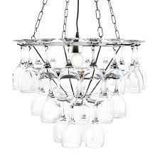 silver frame 3 tier 1 lt wine glass restaurant dining room chandelier litecraft