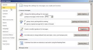 Create Signature Outlook 2010