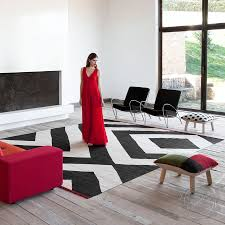 nanimarquina melange zoom rug in cream black