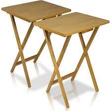 wooden folding tv dinner tables